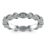 Edwardian Style Diamond Eternity Band in Platinum | Thumbnail 02