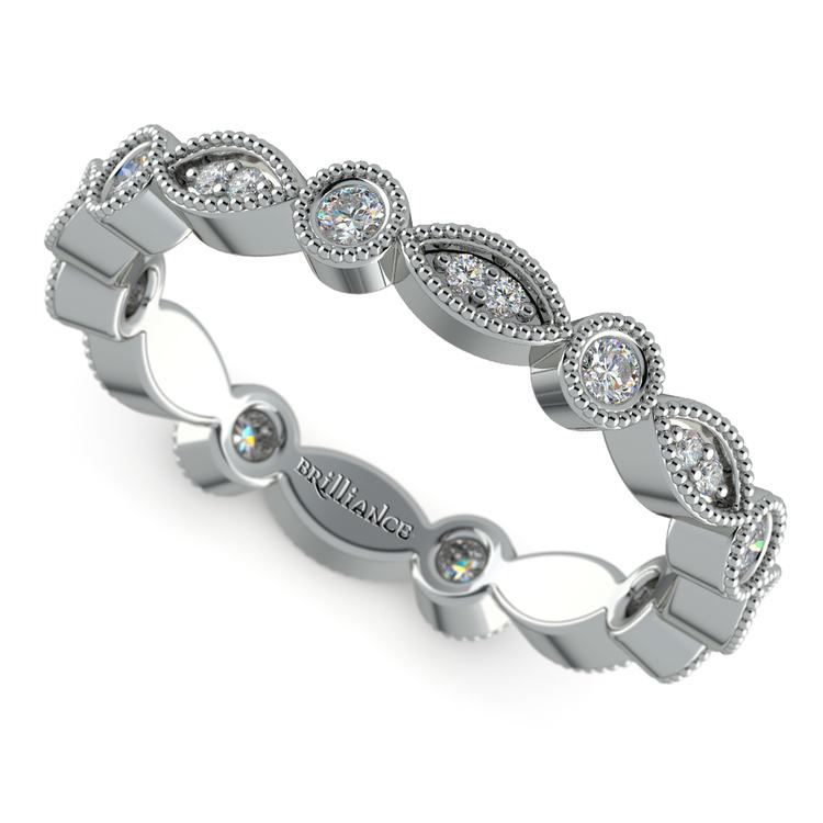 Edwardian Style Diamond Eternity Band in Platinum | 01