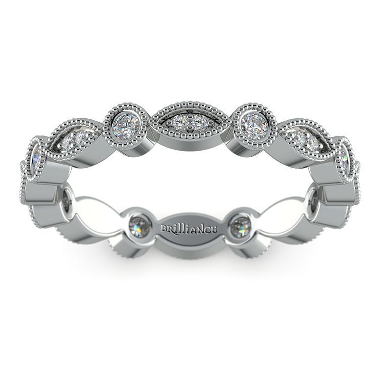 Edwardian Style Diamond Eternity Band in Platinum | 02