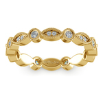 Edwardian Style Diamond Eternity Band in Yellow Gold | Thumbnail 02