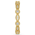 Edwardian Style Diamond Eternity Band in Yellow Gold | Thumbnail 05