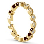 Edwardian Style Diamond Eternity Band in Yellow Gold | Thumbnail 04