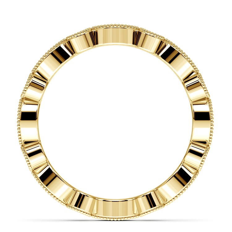 Edwardian Style Diamond Eternity Band in Yellow Gold | 03