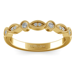 Matching Edwardian Style Vintage Diamond Wedding Ring in Yellow Gold | Thumbnail 02