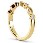 Matching Edwardian Style Vintage Diamond Wedding Ring in Yellow Gold | Thumbnail 04