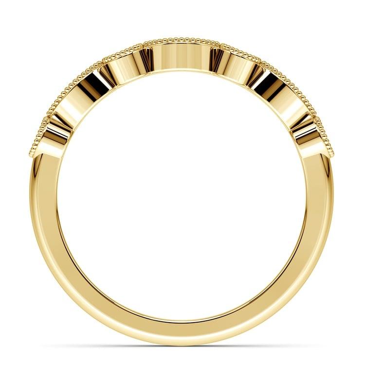 Matching Edwardian Style Vintage Diamond Wedding Ring in Yellow Gold   03