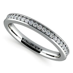 Matching Halo Diamond Wedding Ring in White Gold