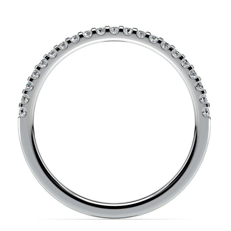 Matching Halo Pave Diamond Wedding Ring in Platinum | 03