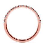 Matching Halo Pave Diamond Wedding Ring in Rose Gold | Thumbnail 03