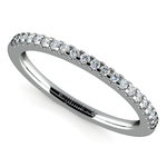 Matching Halo Pave Diamond Wedding Ring in White Gold | Thumbnail 01