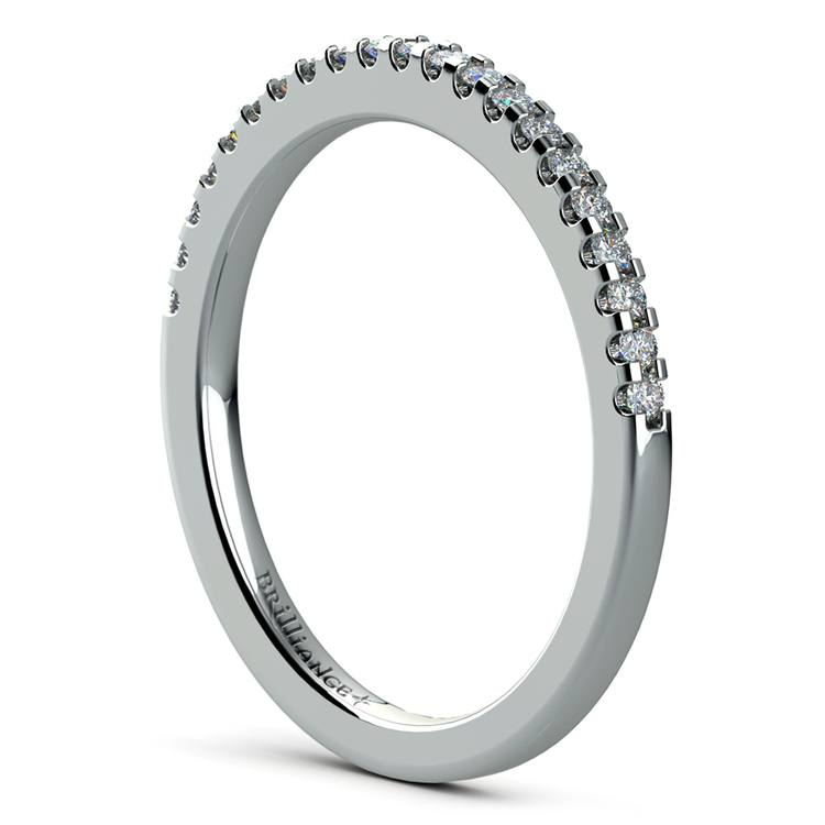 Matching Halo Pave Diamond Wedding Ring in White Gold | 04