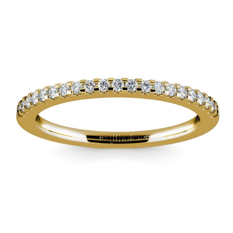 Matching Halo Pave Diamond Wedding Ring in Yellow Gold | 02