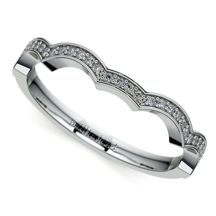 Matching Infinity Diamond Wedding Ring in Platinum