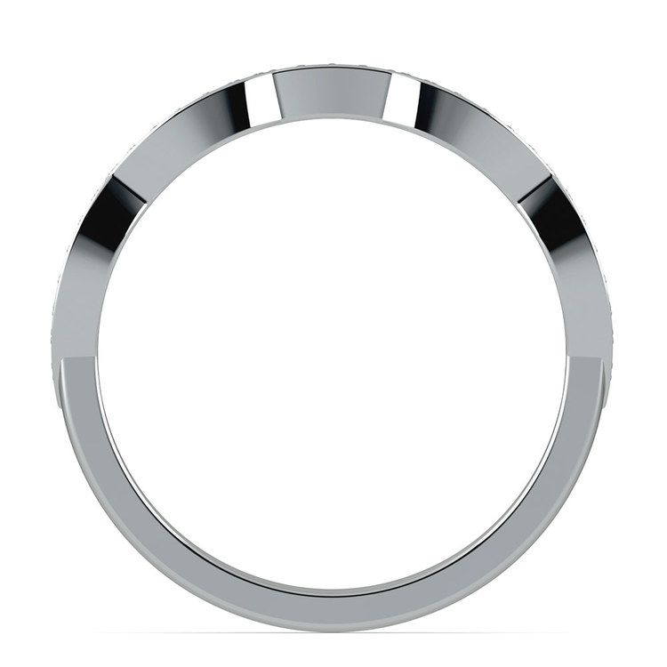 Matching Infinity Diamond Wedding Ring in Platinum | 03