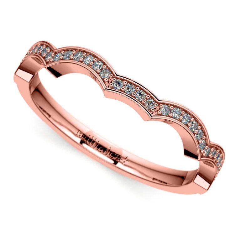 Matching Infinity Diamond Wedding Ring in Rose Gold | 01