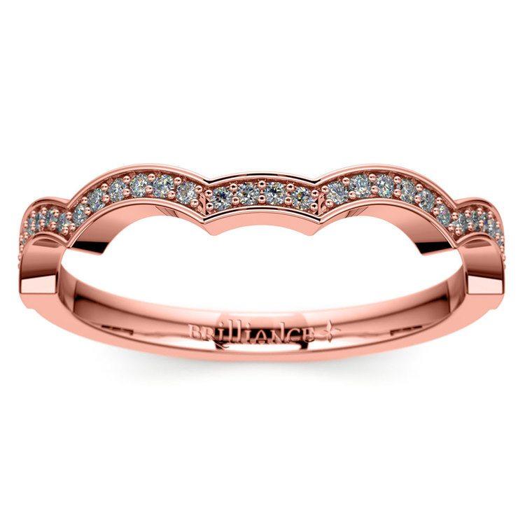 Matching Infinity Diamond Wedding Ring in Rose Gold | 02