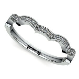 Matching Infinity Diamond Wedding Ring in White Gold
