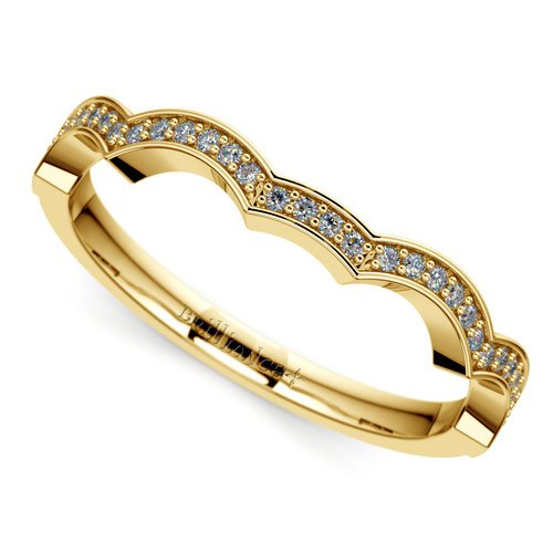 matching infinity diamond wedding ring in yellow gold - Infinity Wedding Rings
