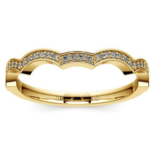 matching infinity diamond wedding ring in yellow gold - Infinity Wedding Ring
