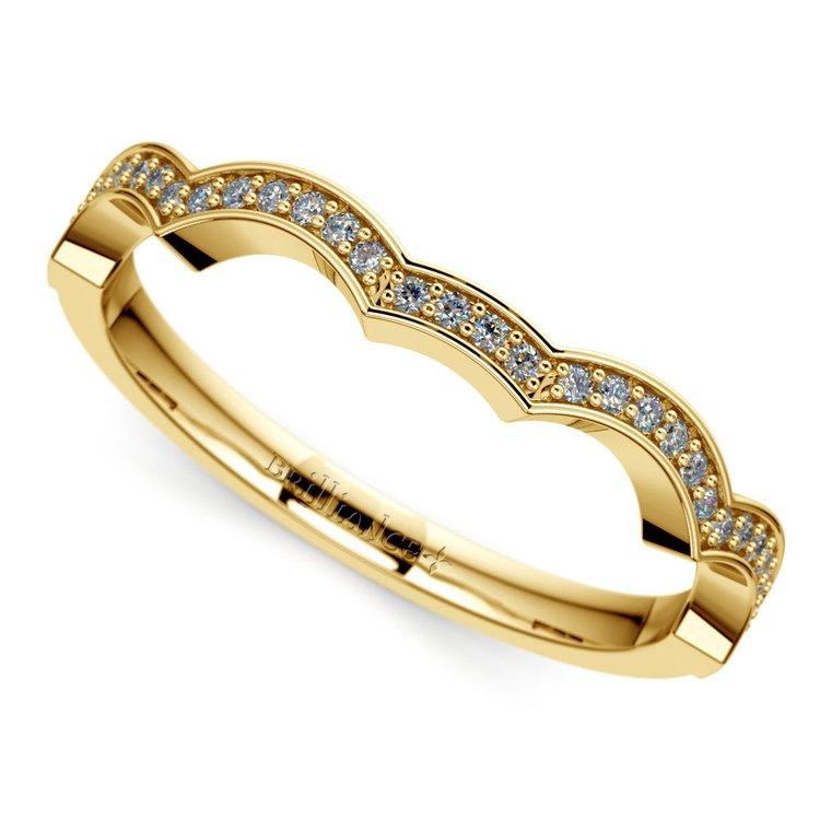 Matching Infinity Diamond Wedding Ring in Yellow Gold | 01