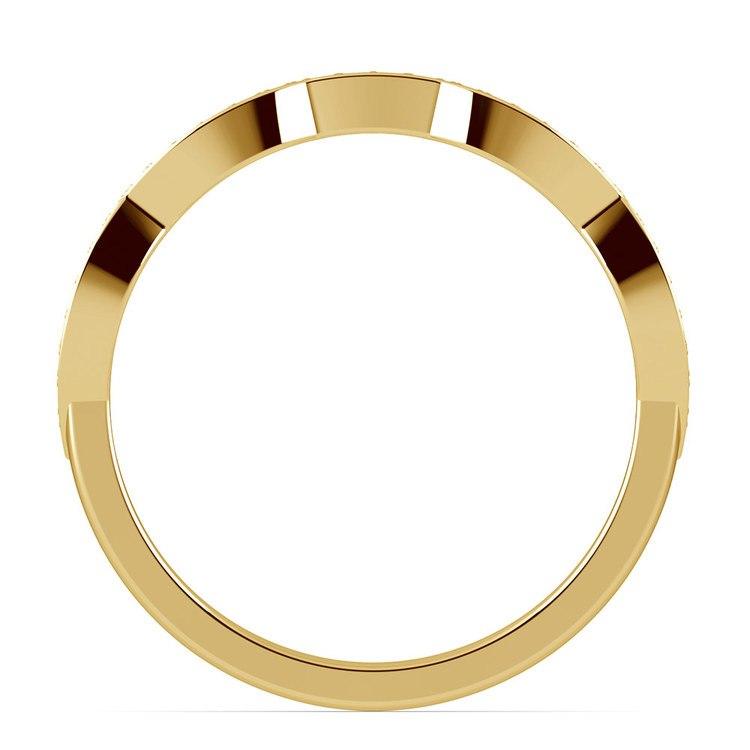 Matching Infinity Diamond Wedding Ring in Yellow Gold | 03