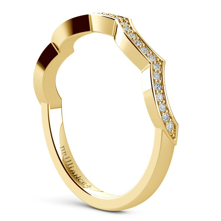 Matching Infinity Diamond Wedding Ring in Yellow Gold | 04