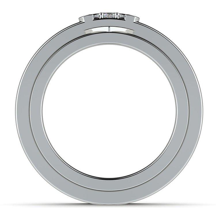 Matching Split Heart Diamond Wedding Ring Set in Platinum   03