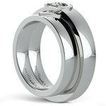 Matching Split Heart Diamond Wedding Ring Set in White Gold | Thumbnail 04