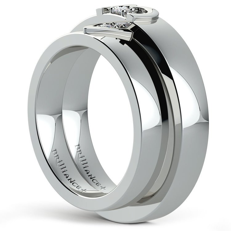 Wedding bands his and hers heart