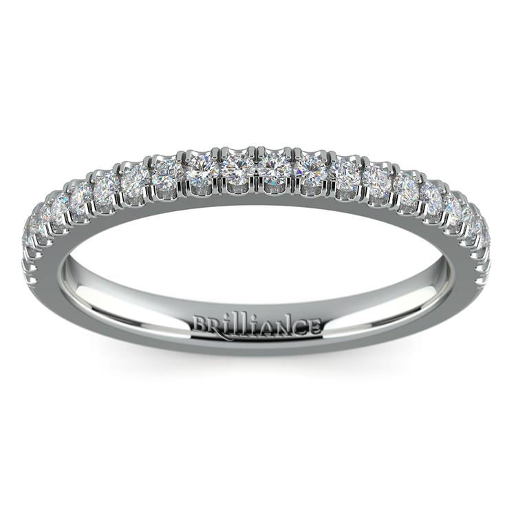 Matching Square Halo Diamond Wedding Ring In Platinum | 02
