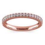 Matching Square Halo Diamond Wedding Ring In Rose Gold | Thumbnail 02
