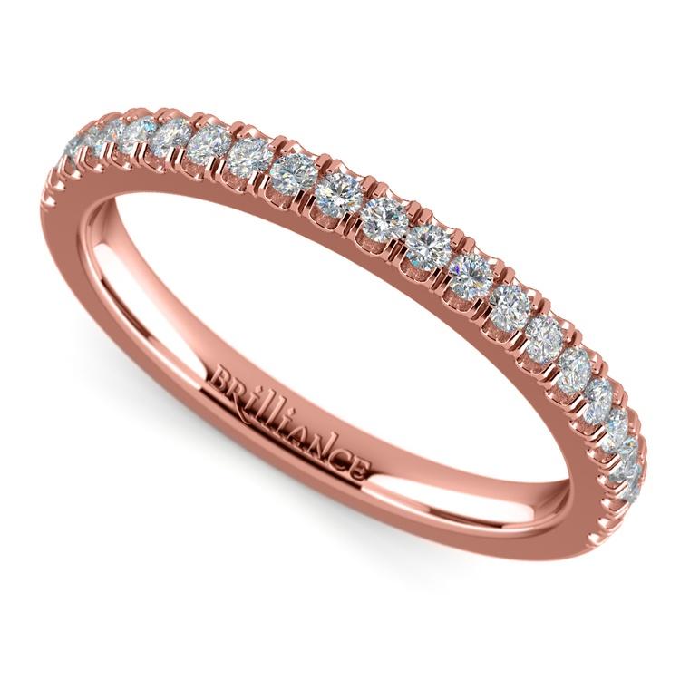 Matching Square Halo Diamond Wedding Ring In Rose Gold | 01
