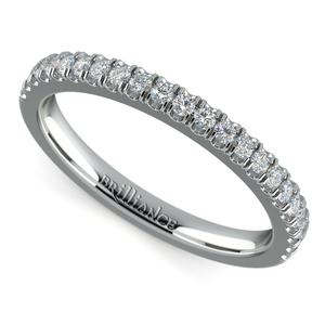 Matching Square Halo Diamond Wedding Ring in White Gold