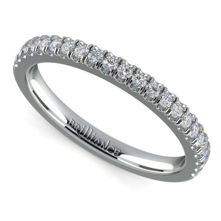 Matching Square Halo Diamond Wedding Ring in White Gold | 01