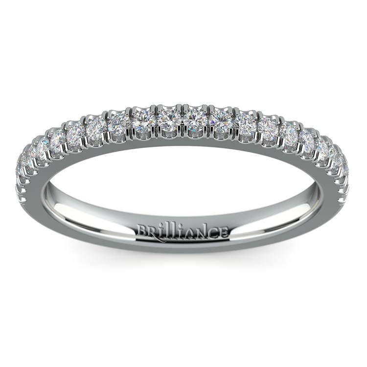 Matching Square Halo Diamond Wedding Ring in White Gold | 02