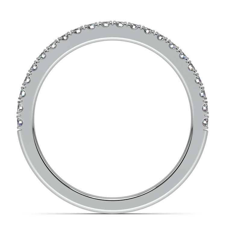 Matching Square Halo Diamond Wedding Ring in White Gold | 05