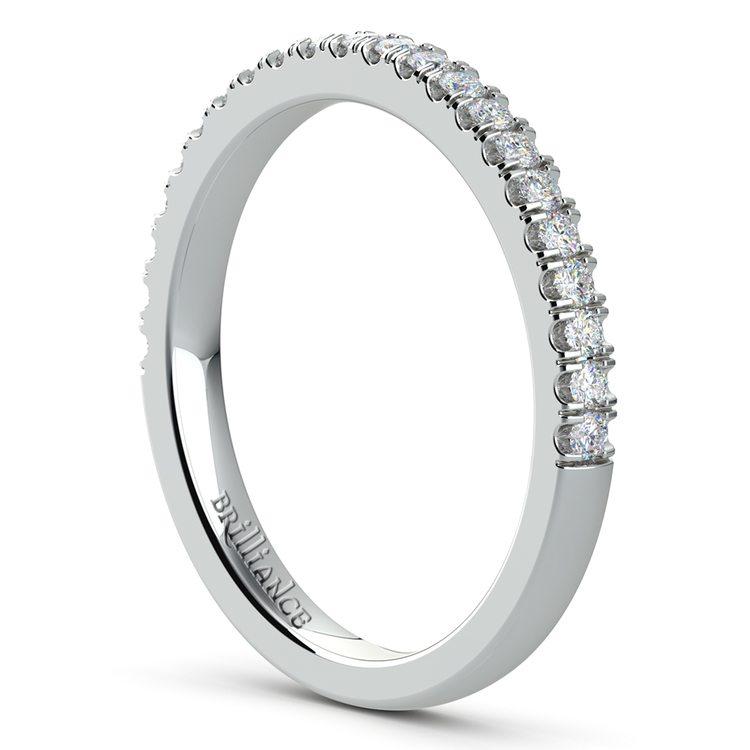 Matching Square Halo Diamond Wedding Ring in White Gold | 03