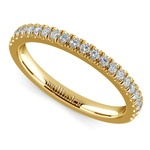 Matching Square Halo Diamond Wedding Ring In Yellow Gold | Thumbnail 01