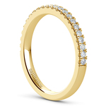 Matching Square Halo Diamond Wedding Ring In Yellow Gold | Thumbnail 04