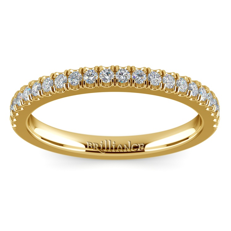 Matching Square Halo Diamond Wedding Ring In Yellow Gold | 02