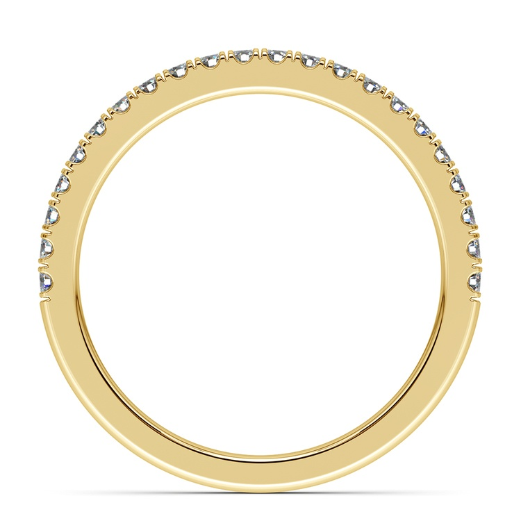 Matching Square Halo Diamond Wedding Ring In Yellow Gold | 03