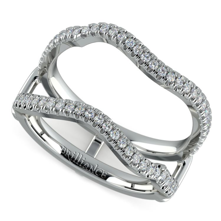 Matching Sunburst Diamond Ring Wrap In Platinum | 01
