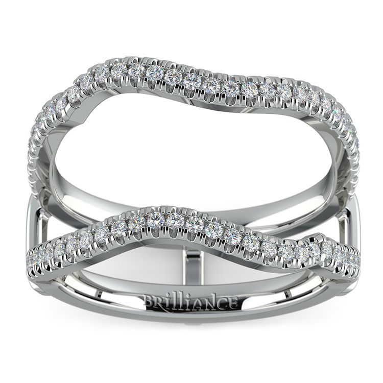 Matching Sunburst Diamond Ring Wrap In Platinum | 02