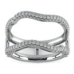 Matching Sunburst Diamond Ring Wrap in White Gold   Thumbnail 02