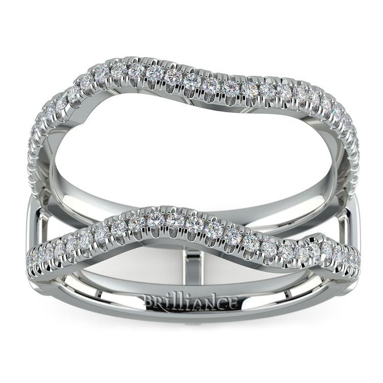 Matching Sunburst Diamond Ring Wrap in White Gold   02