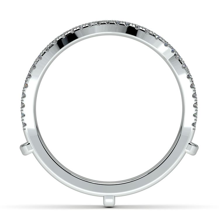 Matching Sunburst Diamond Ring Wrap in White Gold   03
