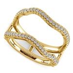 Matching Sunburst Diamond Ring Wrap In Yellow Gold | Thumbnail 01