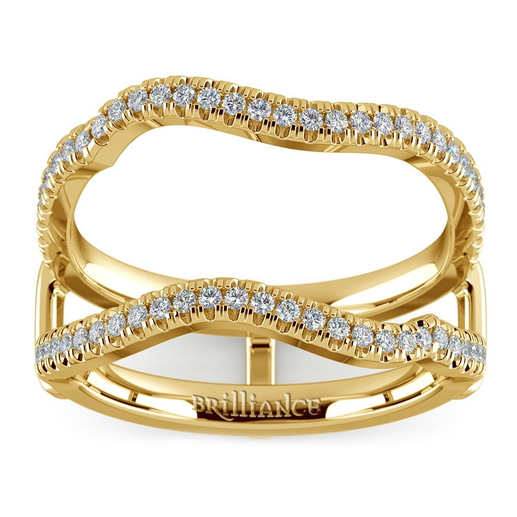 Matching Sunburst Diamond Ring Wrap In Yellow Gold | 02