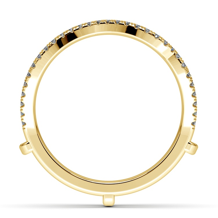Matching Sunburst Diamond Ring Wrap In Yellow Gold | 03