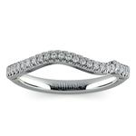 Matching Sunburst Diamond Wedding Ring In Platinum | Thumbnail 02